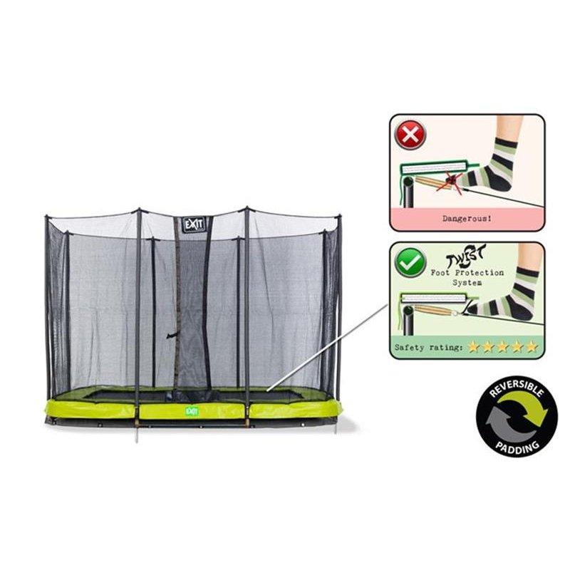 exit trampolin twist ground rechteckig 214 x 305 cm. Black Bedroom Furniture Sets. Home Design Ideas