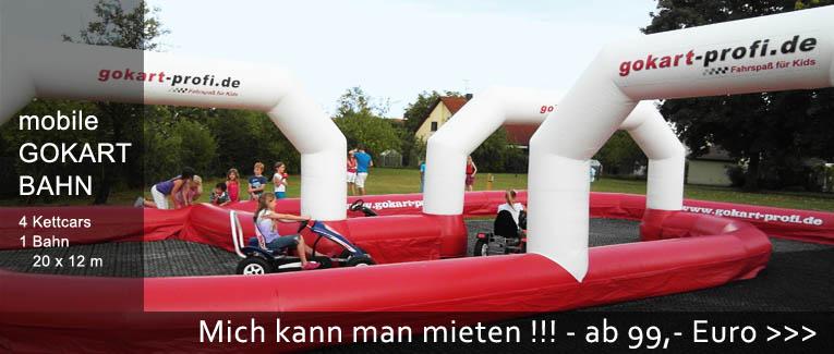 Mobile Gokartbahn - Feste planen - Events - trampolin-profi.de