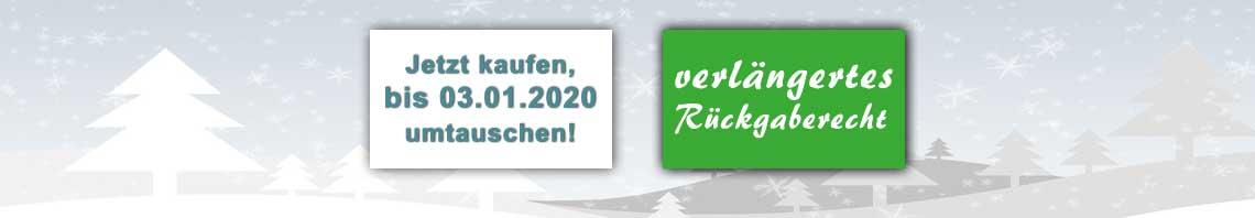 Weihnachtsgarantie + verlängertes Rückgaberecht bei trampolin-profi.de