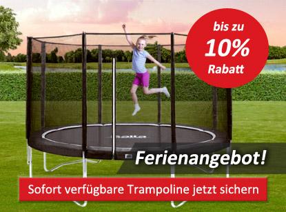 Ferienangebote Trampolin sichern zum Urlaub - trampolin-profi.de