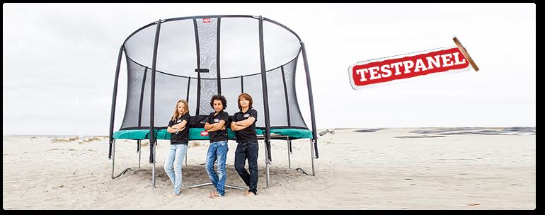 trampolin test berg favorit safetynet. Black Bedroom Furniture Sets. Home Design Ideas