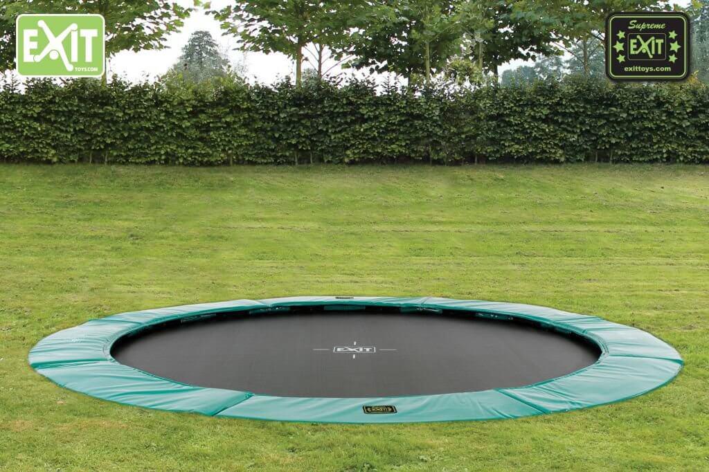 Trampolin Training - EXIT Supreme Gartentrampoline - Bestpreis bei trampolin-profi.de