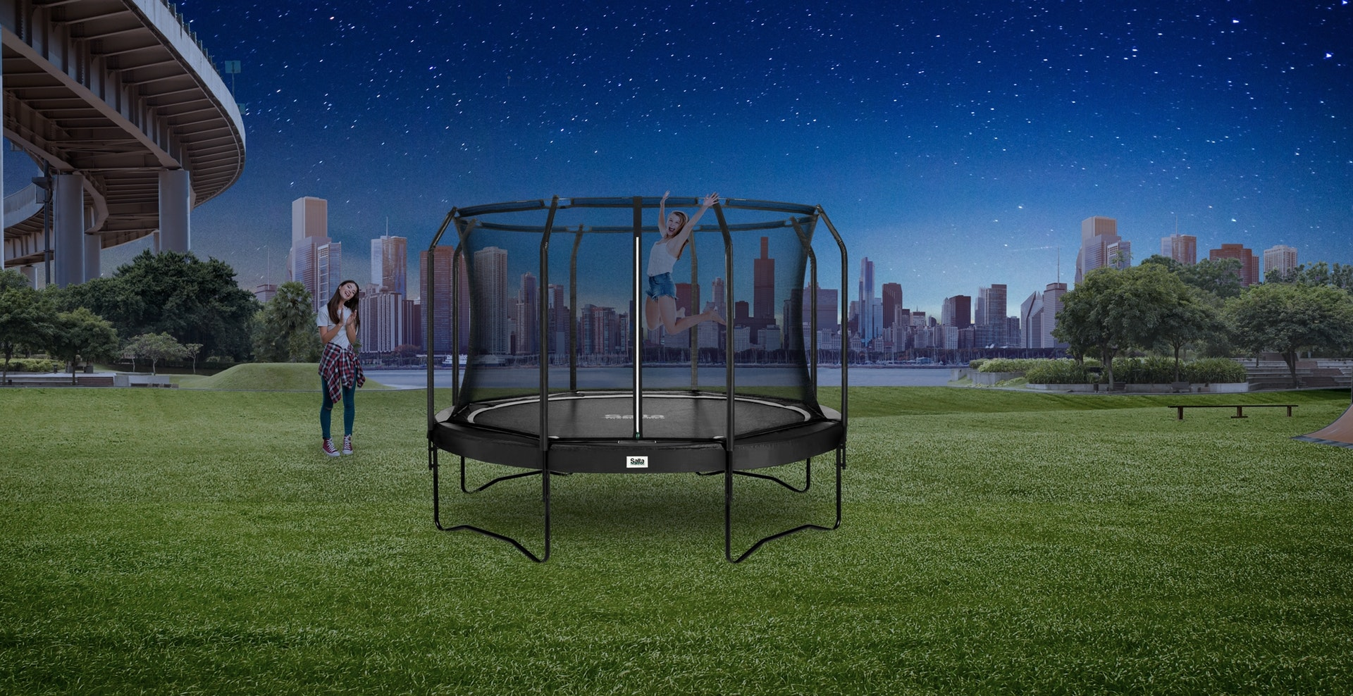 SALTA Premium Black Edition - kaufen auf trampolin-profi.de