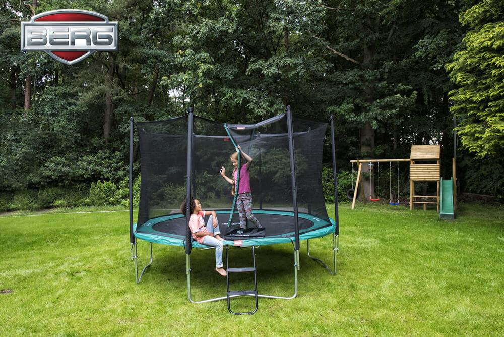 BERG Trampolin Testbericht - Kauf Ratgeber - trampolin-profi.de - hier Modell Favorit + Comfort Netz