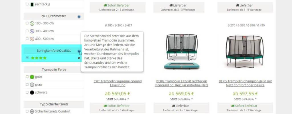 trampolin online kaufen darauf sollten sie achten kaufratgeber. Black Bedroom Furniture Sets. Home Design Ideas