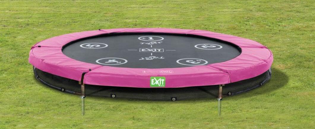 Trampolin in Pink - Trend im Garten auf trampolin-profi.de