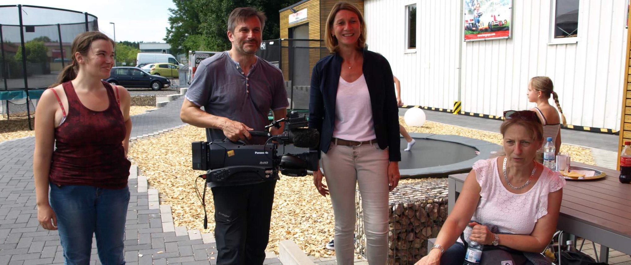 Volle Kanne Morgenmagazin ZDF bei Trampolin Profi Burgthann