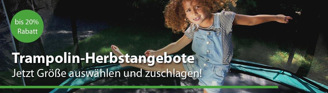 Unsere Herbstangebote: Trampolin-Lagerware sofort lieferbar bei trampolin-profi.de