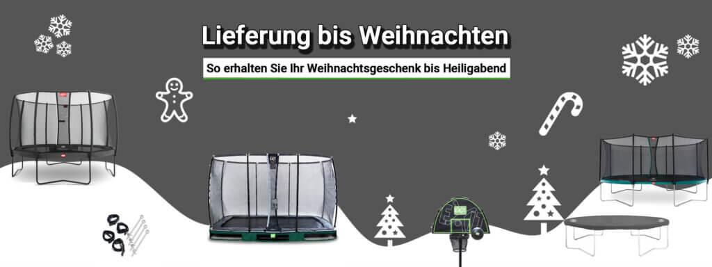 Lieferung bis Weihnachten bei trampolin-profi.de