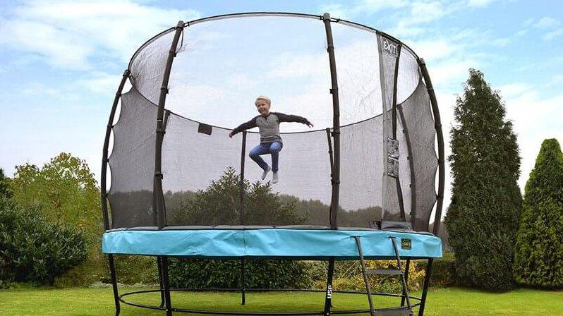 EXIT Elegant Premium Trampolin Blau - trampolin-profi.de