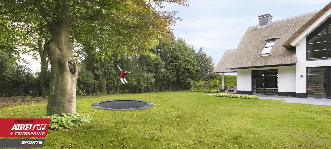 gewerbliche Nutzung - Elite Flatground grey - Infos unter trampolin-profi.de