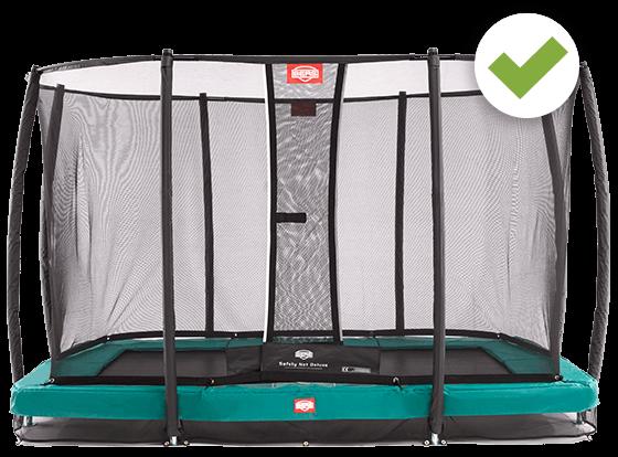 BERG Eazyfit Trampolin rechteckig + Safety Net Deluxe kaufen auf trampolin-profi.de
