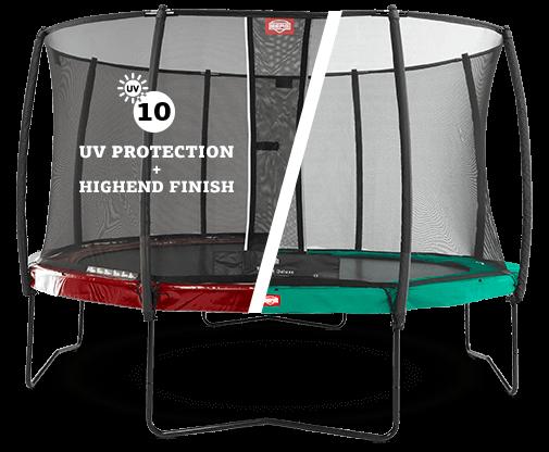 sicheres Trampolinzubehör kaufen auf trampolin-profi.de - hier Sicherheitsnetz