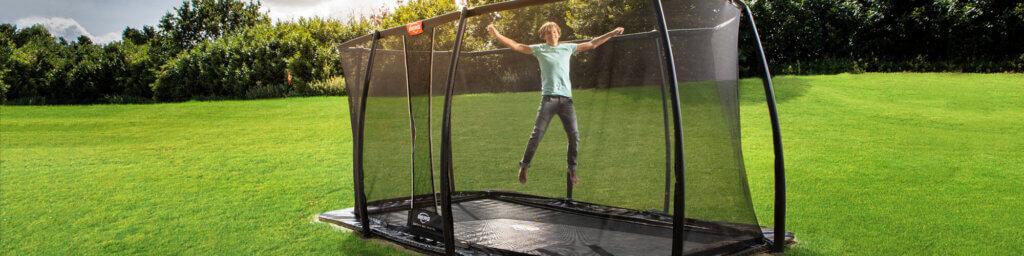 Trampolin Spaß mit Fangnetz und ohne - Beratung trampolin-profi.de