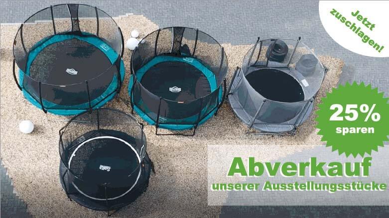 Preisalarm: Abverkauf unserer Ausstellungsstücke - trampolin-profi.de