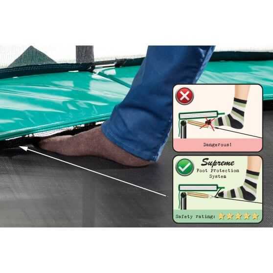 Trampolin und Sicherheit: EXIT Foot Protection System - trampolin-profi.de