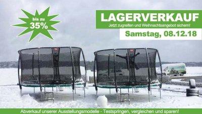 Lagerverkauf bei trampolin-profi.de Burgthann – Weihnachten kann kommen!