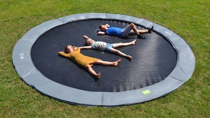 Trampolin Formen - hier Modell EXIT Bodentrampolin in rund - kaufen auf trampolin-profi.de