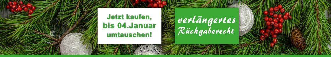Weihnachtsgeld 2018 - verlängertes Rückgaberecht bei trampolin-profi.de