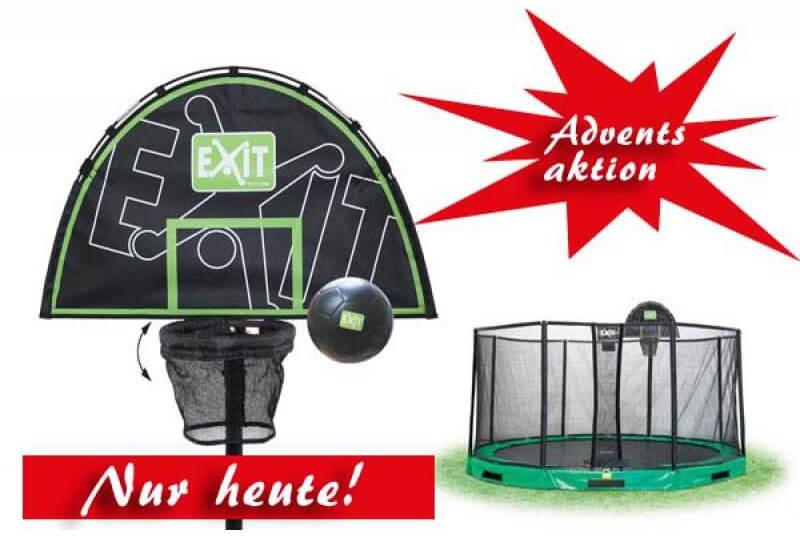 ONLINE ADVENTSKALENDER: EXIT Trampolin Basketball Korb trampolin-profi.de