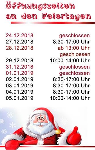 Öffnungszeiten Weihnachten 2018 - trampolin-profi.de