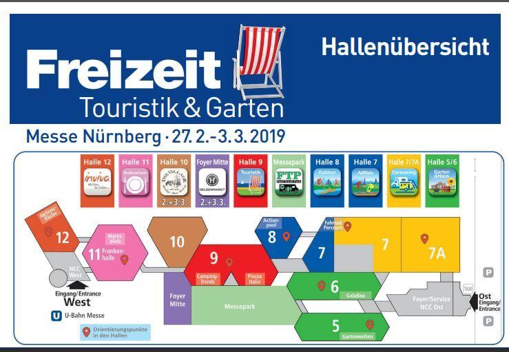 TRAMPOLIN PROFI als Aussteller auf der Freizeit, Touristik + Garten Nürnberg