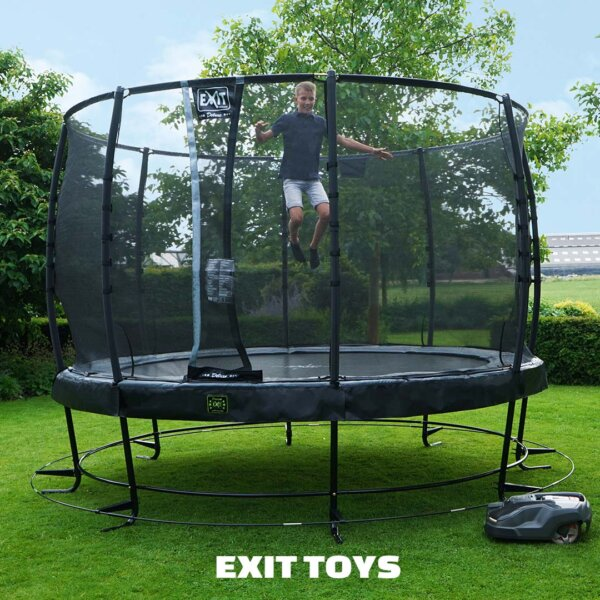 EXIT-Trampolin-Elegant-Maehroboter-Begrenzung - Beratung trampolin-profi.de