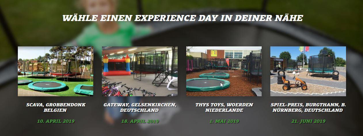BERG EXPERIENCE DAY: bei TRAMPOLIN PROFI Nürnberg dabei sein