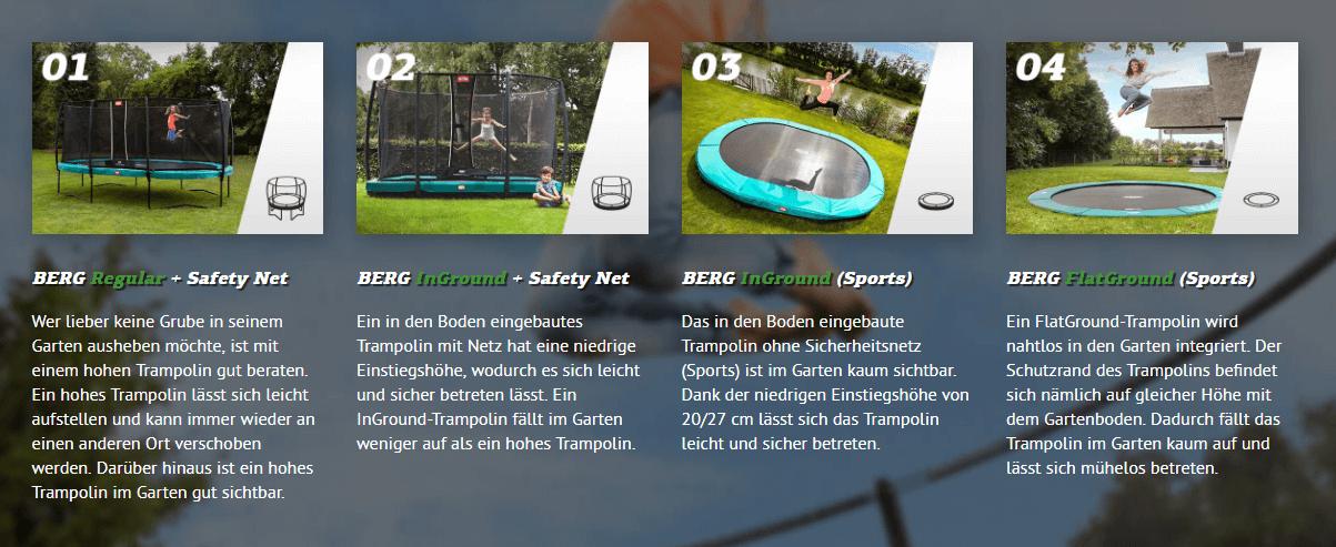 Varianten BERG Champion Trampolin - einkaufen zu Bestpreisen auf trampolin-profi.de