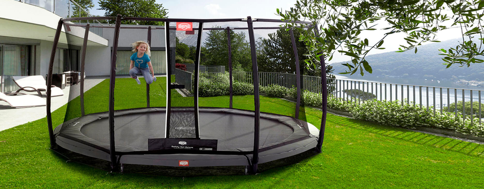 BERG InGround Champion + Safety Net Deluxe - kaufen auf trampolin-profi.de