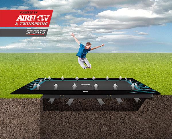 Trampolinhalle war gestern: BERG Ultim Elite + Aerowall - trampolin-profi.de