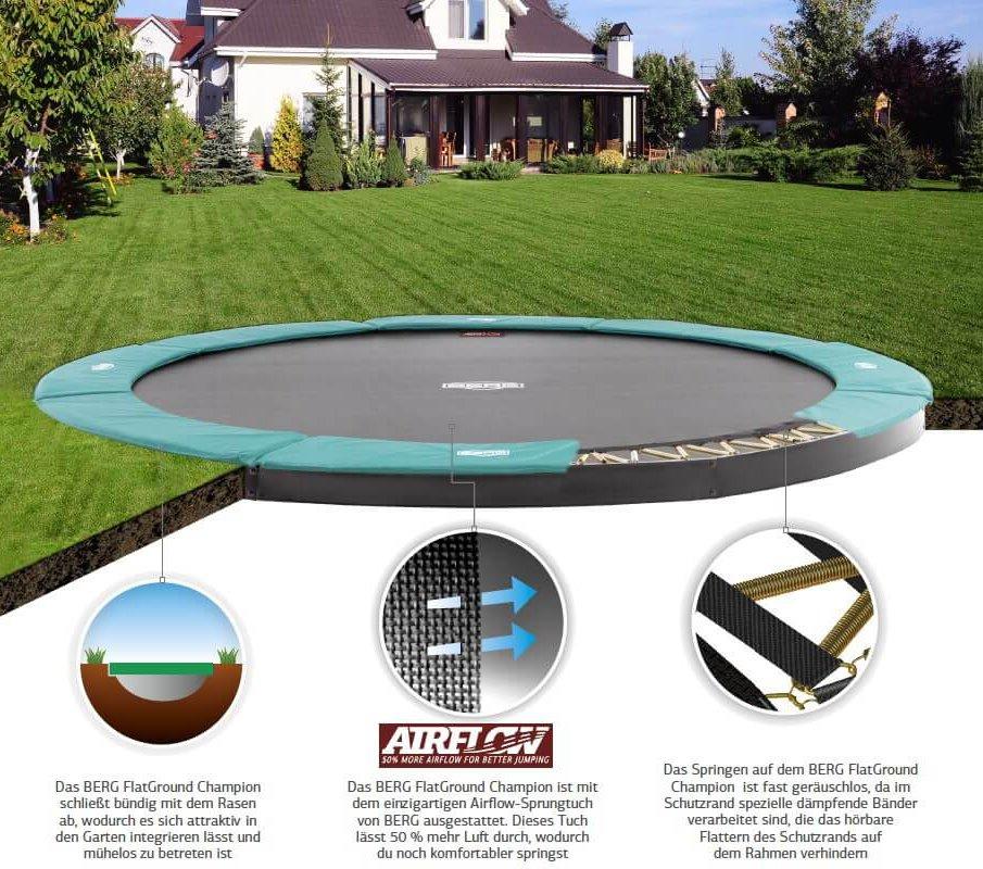 BERG Champion FlatGround - ebenerdige Trampoline bei trampolin-profi.de