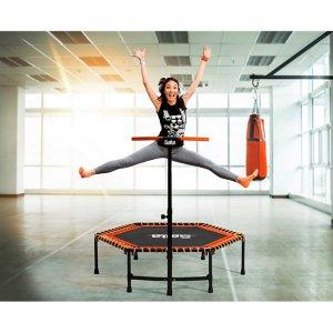 Salta Fitness Trampolin mit höhenverstellbarem Haltegriff - kaufen auf trampolin-profi.de