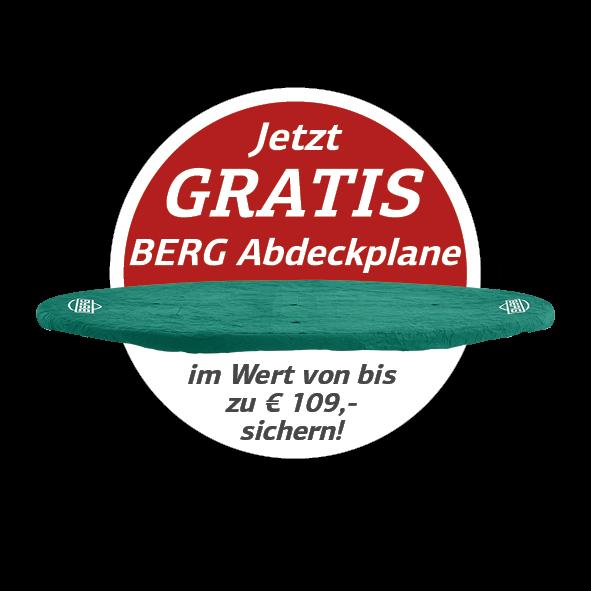 Aktion Gratis Abdeckplane zum BERG Trampolin - sichern auf trampolin-profi.de