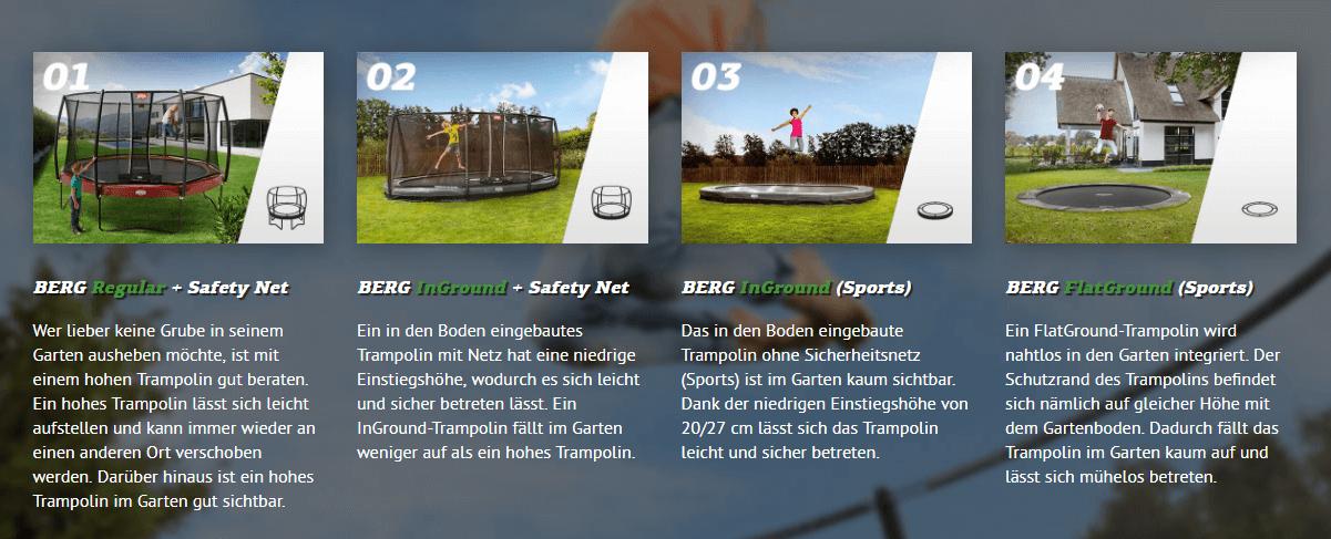 BERG Modell Übersicht - trampolin-profi.de