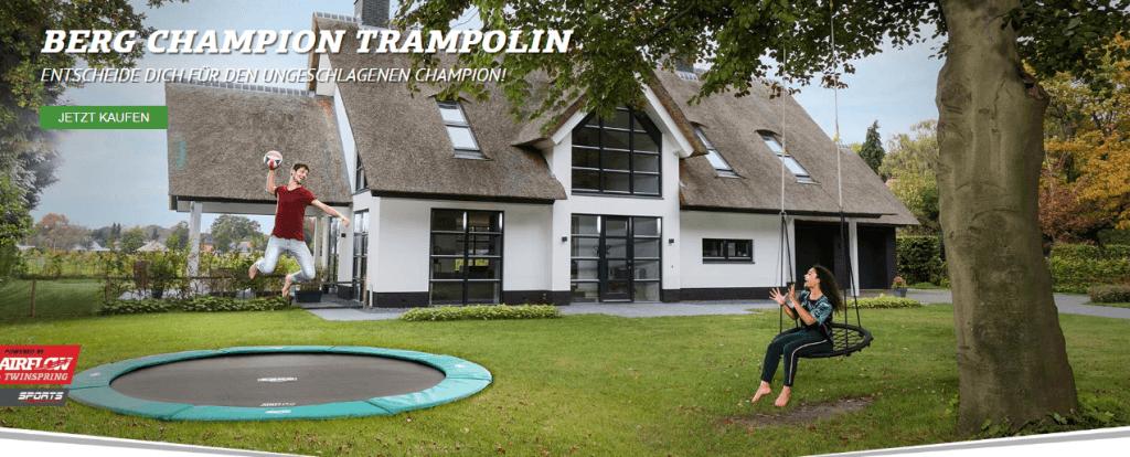 BERG Aktion Gratis Abdeckplane - Juni 2019 - trampolin-profi.de