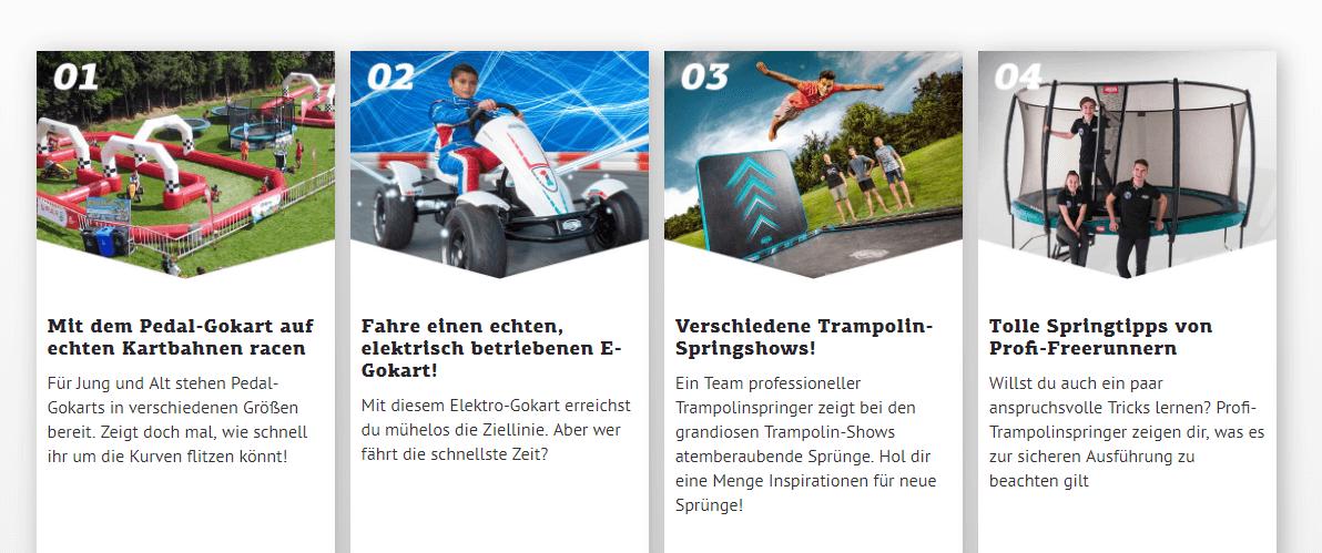 Attraktionen am 21.06.2019 bei trampolin-profi.de - EXPERIENCE DAY BERG Toys