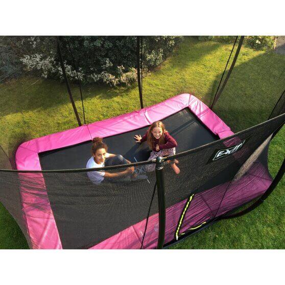 EXIT Silhouette InGround Trampolin rechteckig - trampolin-profi.de