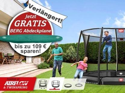 Aktion GRATIS Abdeckplane - verlängert bei trampolin-profi.de