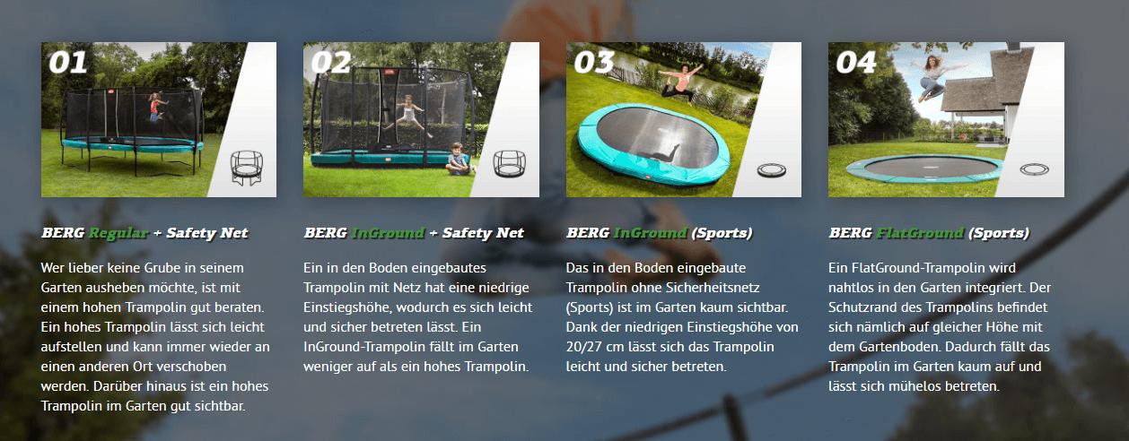 Modellübersicht - wie grabe ich ein Trampolin ein - trampolin-profi.de