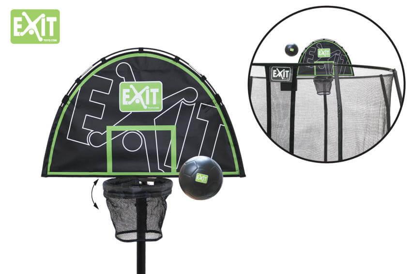 Basketball spielen auf dem Gartentrampolin - so geht´s - EXIT Trampolinkorb kaufen auf trampolin-profi.de