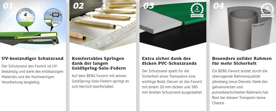 BERG Favorit Vorteile im Überblick - trampolin-profi.de