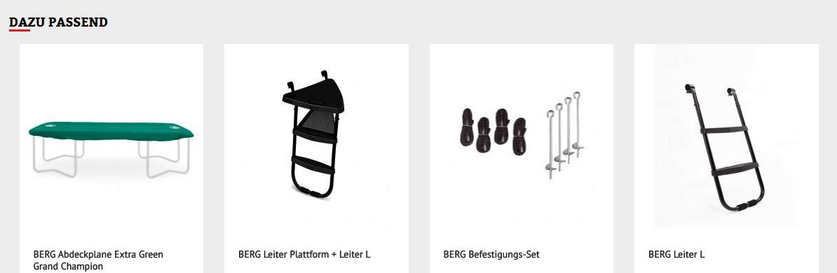 BERG Zubehör zum BERG Grand Favorit - kaufen auf trampolin-profi.de