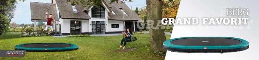 BERG Grand Favorit Sports - Trampolin oval zum super Preis - trampolin-profi.de
