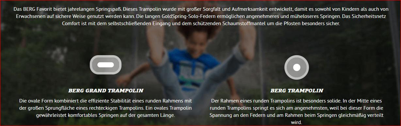 BERG Favorit Trampoline testen auf der Consumenta 2019 - trampolin-profi.de