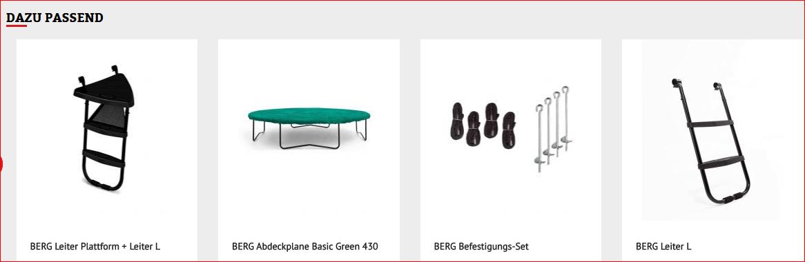 BERG Favorit Zubehör - kaufen auf trampolin-profi.de