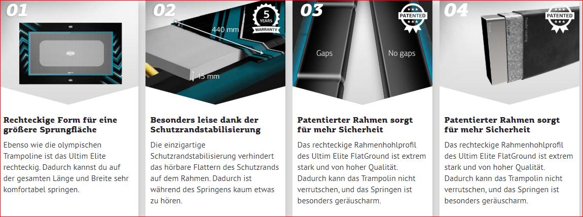 BERG Ultim Elite FlatGround - Vorteile auf einen Blick - trampolin-profi.de