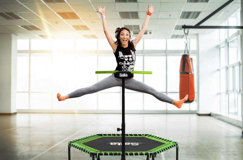 Salta Fitness Trampolin - kaufen auf trampolin-profi.de orange und grün