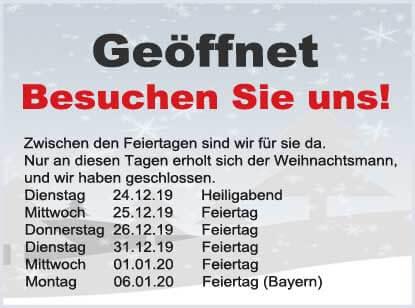 Öffnungszeiten Weihnachten 2019 - trampolin-profi.de