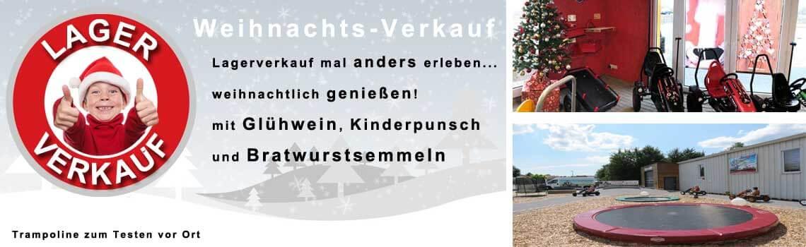 7.12.2019 - Weihnachts-Lagerverkauf bei trampolin-profi.de